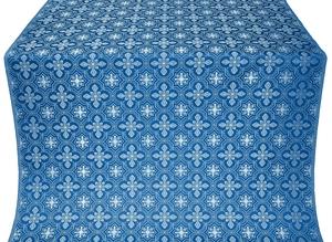 Rus' metallic brocade (blue/silver)
