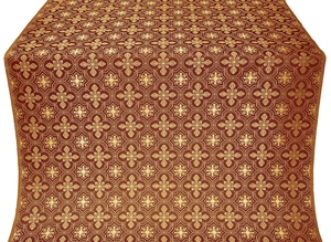 Rus' metallic brocade (claret/gold)