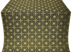 Rus' metallic brocade (black/gold)