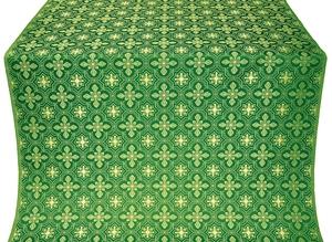 Rus' metallic brocade (green/gold)