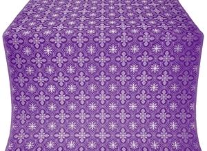 Rus' metallic brocade (violet/silver)
