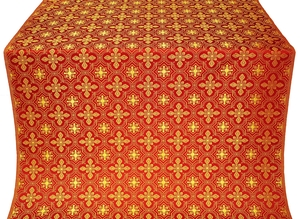 Rus' metallic brocade (red/gold)