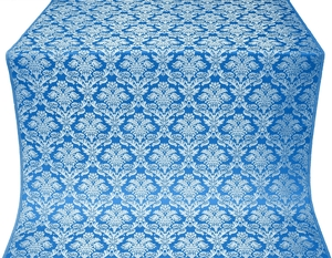 Vazon metallic brocade (blue/silver)