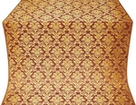 Vazon metallic brocade (claret/gold)