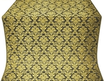Vazon metallic brocade (black/gold)