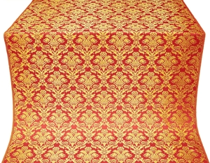Vazon metallic brocade (red/gold)