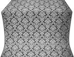 Vazon metallic brocade (black/silver)