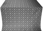 Canon metallic brocade (black/silver)