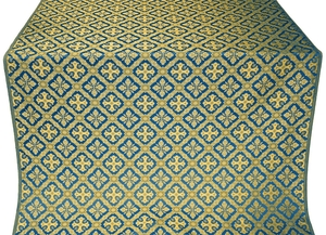 Canon silk (rayon brocade) (blue/gold)