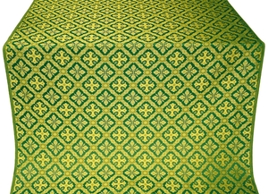 Canon silk (rayon brocade) (green/gold)