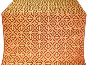 Canon silk (rayon brocade) (red/gold)