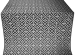 Canon silk (rayon brocade) (black/silver)