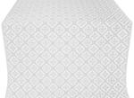 Canon silk (rayon brocade) (white/silver)