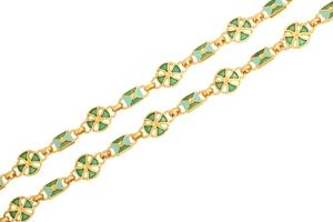 Pectoral cross chain no.17 (green)