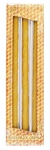 100% Pure beeswax 12-inch Taper candle set