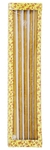 100% Pure beeswax 22-inch Bishop candle set - 2