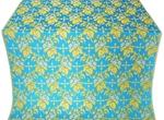 Paradise Garden metallic brocade (blue/gold)