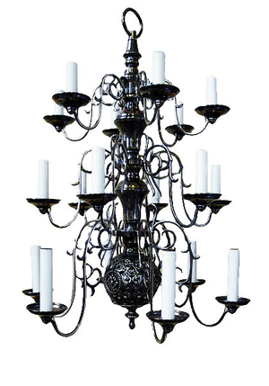 Three-level church chandelier (18 lights)