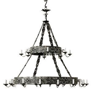 Two-level church chandelier (24 lights)