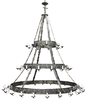 Three-level church chandelier