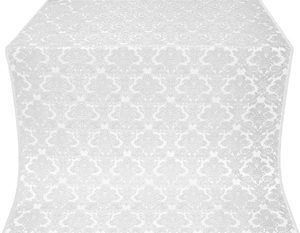 Vazon rayon brocade (white/silver)