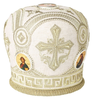 Mitres: Embroidered mitre no.62
