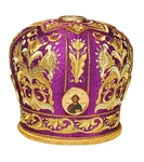Mitres: Embroidered mitre no.2a