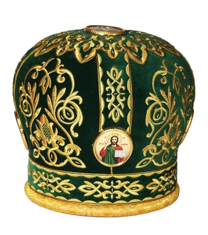 Mitres: Embroidered mitre no.14