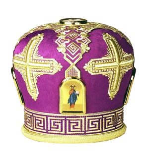 Mitres: Embroidered mitre no.38