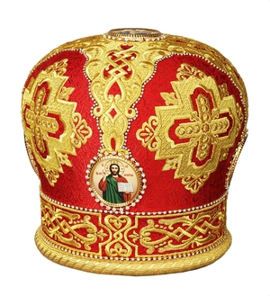 Mitres: Embroidered mitre no.49