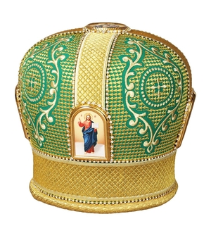 Mitres: Embroidered mitre no.69