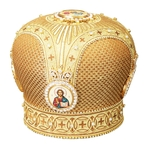 Mitres: Embroidered mitre no.82