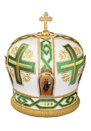 Mitres: Embroidered mitre no.92