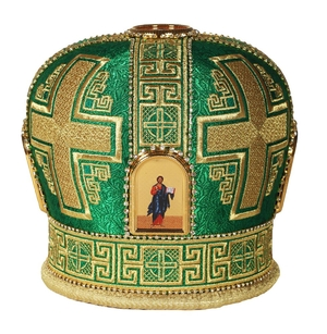 Mitres: Embroidered mitre no.93
