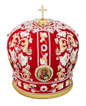 Mitres: Embroidered mitre no.515