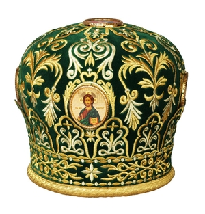 Mitres: Embroidered mitre no.87