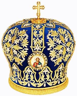 Mitres: Embroidered Bishop mitre no.505
