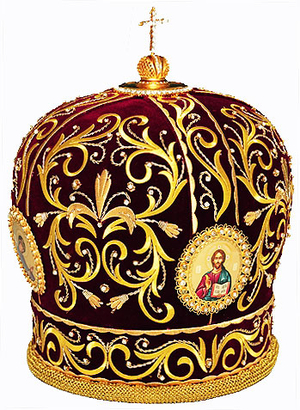 Mitres: Embroidered Bishop mitre - 59
