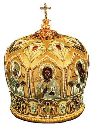 Mitres: Embroidered Bishop mitre - 72