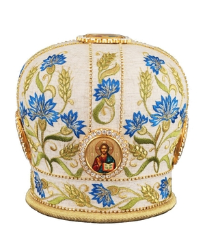 Mitres: Embroidered Bishop mitre - 76