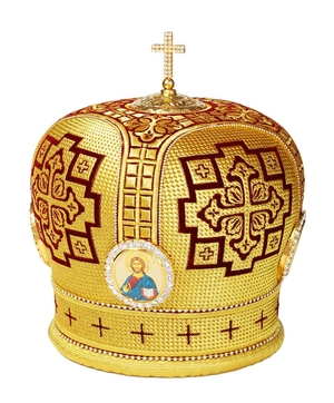 Mitres: Embroidered Bishop mitre no.101