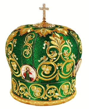 Mitres: Embroidered Bishop mitre no.35