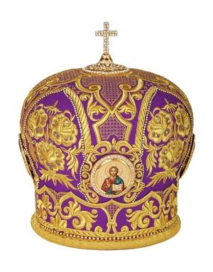 Mitres: Embroidered Bishop mitre no.47