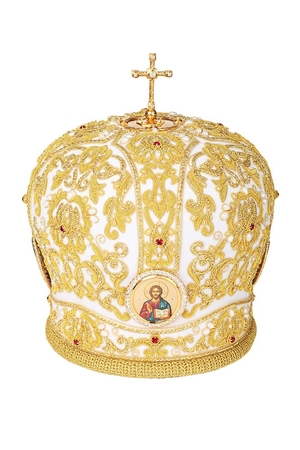 Mitres: Embroidered Bishop mitre no.503