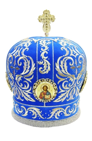 Mitres: Embroidered Bishop mitre no.509