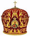 Mitres: Embroidered Bishop mitre no.518