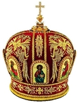 Mitres: Embroidered Bishop mitre no.523