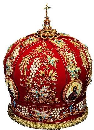 Mitres: Embroidered Bishop mitre no.528