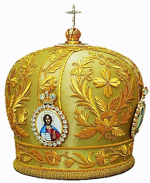 Mitres: Embroidered Bishop mitre no.529