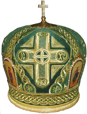 Mitres: Embroidered Bishop mitre no.57b